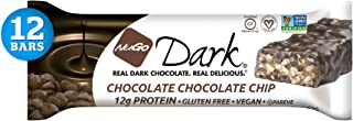 NuGo Dark Chocolate Chip, 12g Vegan Protein, 200 Calorie, Gluten Free, 12Count