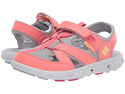 Columbia Kids Techsun Wave (Toddler/Little Kid/Big Kid) (Hot Coral/Sweet Corn) Girls Shoes