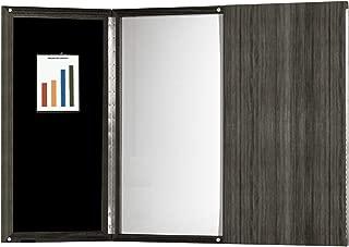Mayline Medina Presentation Board with Dry Erase Center Panel, Gray Steel Laminate