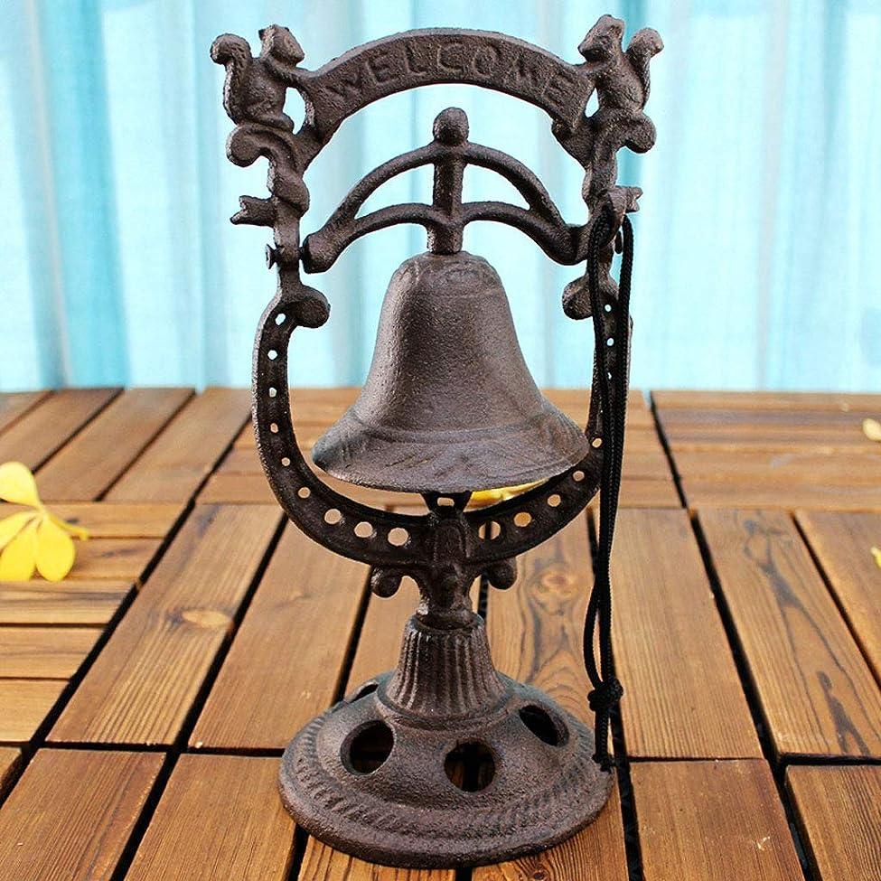 増幅器フィットネス誠実ドアベルフロントベルヨーロッパのレトロな鋳鉄のテーブルハンドガラガラ錬鉄のベルバーハンドプレスベルリスウェルカムベル