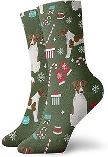 Nother, Soft Fox Christmas - Calcetines cortos de Navidad para perros, color verde oscuro