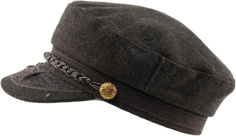 Over item handling ☆ Men's Greek Fisherman Sailor Fiddler Wool Hat Driver Max 50% OFF Flat Winter
