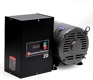 Rotary Phase Converter AR20-20 HP 1 to 3 Three PH Made is USA