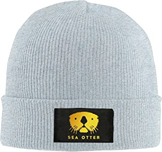 Golden Sea Otter Unisex Plain Beanie Hat Cap Novelty Knit Skull Cap Gift for Friends Men Women 4 Colors