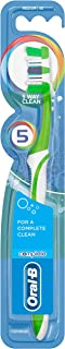 Oral-B Complete 5 Way Clean Medium Manual Toothbrush, Superior Cleaning, Polishing Cup, Medium Bristles, Pack of 1