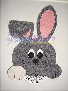 Disco orario coniglio - idea regalo uomo donna