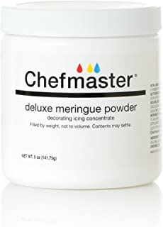 Chefmaster Deluxe Meringue Powder for Baking & Decorating, Certified Kosher Meringue Powder for Buttercream, Royal Icing, Meringue Toppings, Meringue Cookies, and more! 5 oz. Ready to Use Meringue Mix