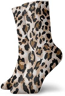 yting, Estampados de leopardo Calcetines estampados Calcetines divertidos Calcetines locos Calcetines casuales para niñas Niños