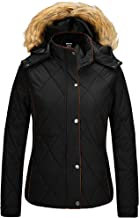 Wantdo Women's Thicken Winter Coat Classic Quilted Puffer Jacket with Fur Hood