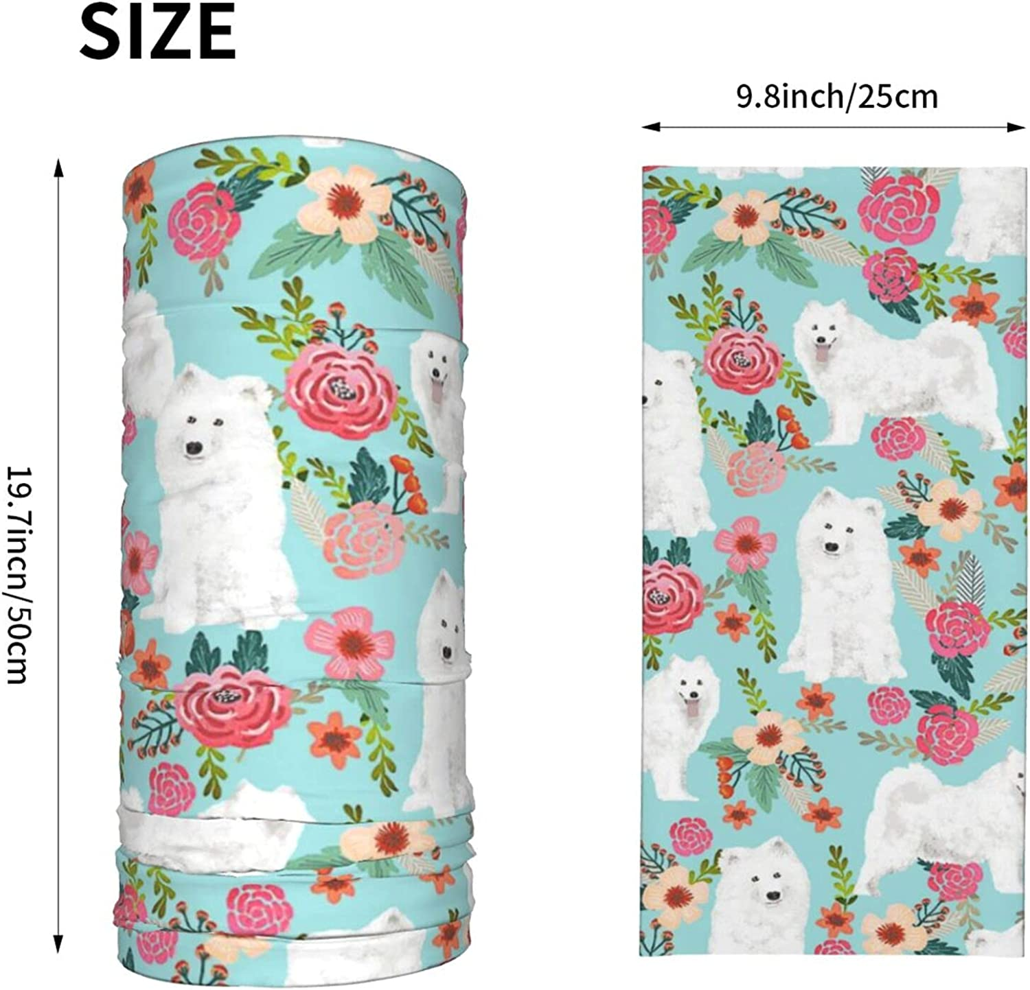 Dogs Floral Dog Neck Gaiter Multipurpose Headwear Ice Silk Mask Scarf Summer Cool Breathable Outdoor Sport 2 Pcs