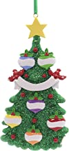 Tree with Ornaments Family of 6 Ornament