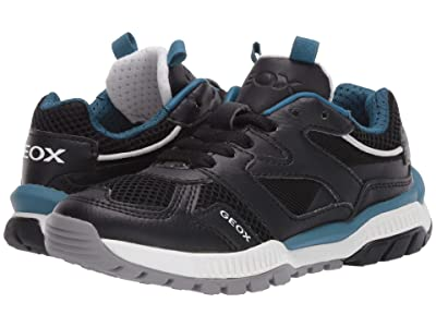 Geox Kids Tuono 2 (Little Kid/Big Kid) (Black/Blue) Boy