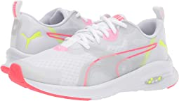 Puma White/Pink Alert/Yellow Alert