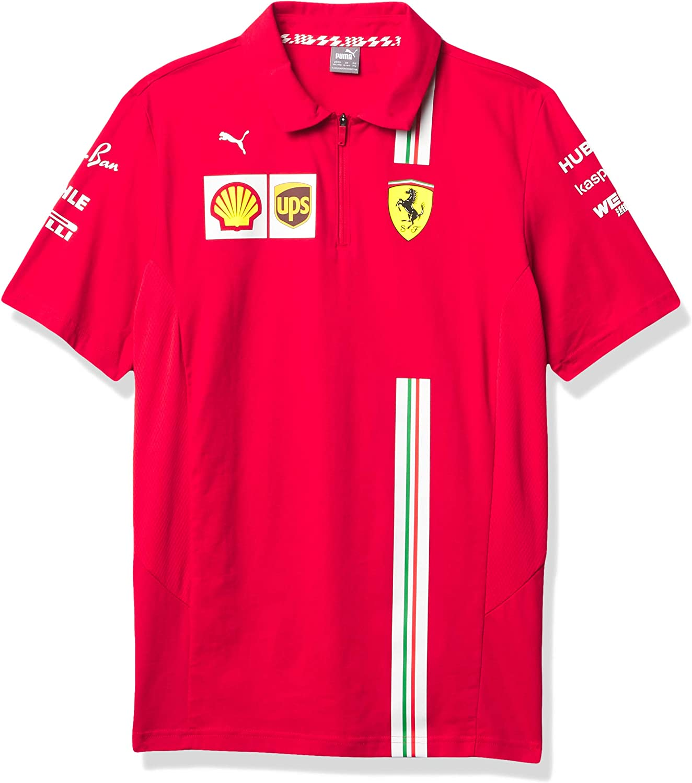 Juvenil peque/ño Fuel For Fans Formula 1 Youth 2020 Team Polo Scuderia Ferrari 8 Rojo