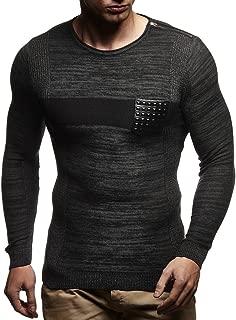 Men's Pullover Knitted Hoodie Sweatshirt Longsleeve Sweater Crew Neck Fine Long Sleeve Slim Fit LN1660