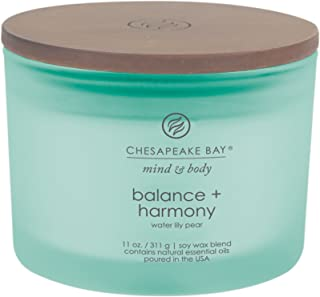 Chesapeake Bay Candle Scented Candle, Balance + Harmony (Water Lily Pear), Coffee Table
