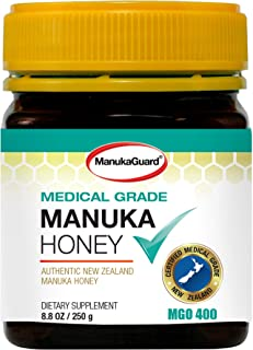 ManukaGuard Medical Grade Manuka Honey MGO 400+ | 100% Authentic New Zealand Manuka Honey | Healing Honey for Immunity Boo...