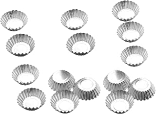 Egg Tart Mold Baking Cups Tins,50pcs Steel Mini Pie Pans Muffin Baking Cups, Pack of 50