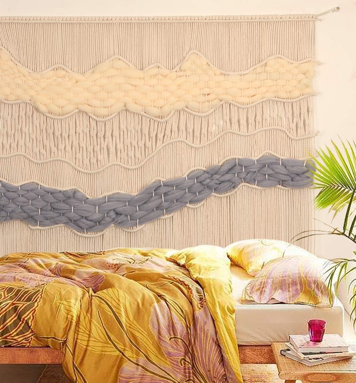 トレンド Flber Macrame Wall セール特価 Hanging Curtain Ar Handmade Boho