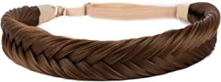 Coolcos Hair Braided Headband Fakes Hair Braids Girls Hairpieces Chunky Wide Plaited Elastic Stretch Wig Women Beauty acce...