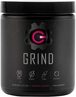 GRIND - Pre Workout Energy w/Joint Support & BCAA Recovery (Raspberry Lemonade) Powder (30 Servings) - Rhodiola, GABA for ...