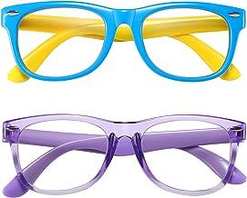 Kids Blue Light Blocking Glasses Girls Boys 2 Pack, Computer Video Gaming Glasses for Kids Girls Boys Age 3-10,Anti Blue L...