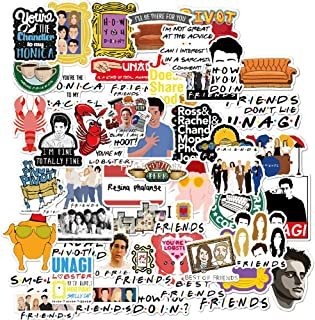 Friends TV Show Fans Stickers for Water Bottle,Waterproof Vinyl Skateboard Guitar Travel Case Sticker Door Laptop Luggage ...