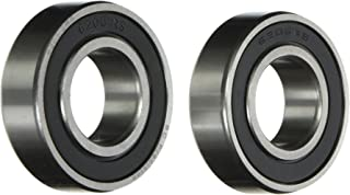 Two (2) 6205-2RS Sealed Bearings 25x52x15 Ball Bearings/Pre-Lubricated (Pack of 2)