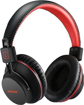 Cuffie Bluetooth CSR H1 Mpow, Cuffie Bluetooth Over-Ear 4.1, Autonomia 20 Ore, Cuffie Bluetooth Pieghevole Ergonomico Con Microfono, Riduzione di Rumore, Auricolari Bluetooth Per Smartphone e PC-Rosso