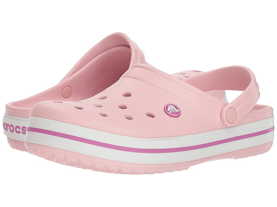 Crocs Crocband Clog (Pearl Pink/Wild Orchid) Clog Shoes