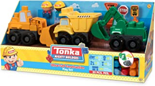 Tonka Mighty Builders Construction Trucks Play Set: Dump Truck, Front Loader and Bulldozer