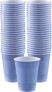 Amscan Pastel Blue Plastic Cup Big Party Pack, 16 Oz., 50 Ct.