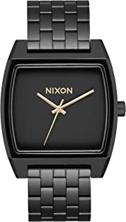 NIXON Time Tracker A1245 - Matte Black/Gold - 100 Meter / 10 ATM Water Resistant Men's Analog Fashion Watch (37mm Watch Face, 20mm Stainless Steel Band)
