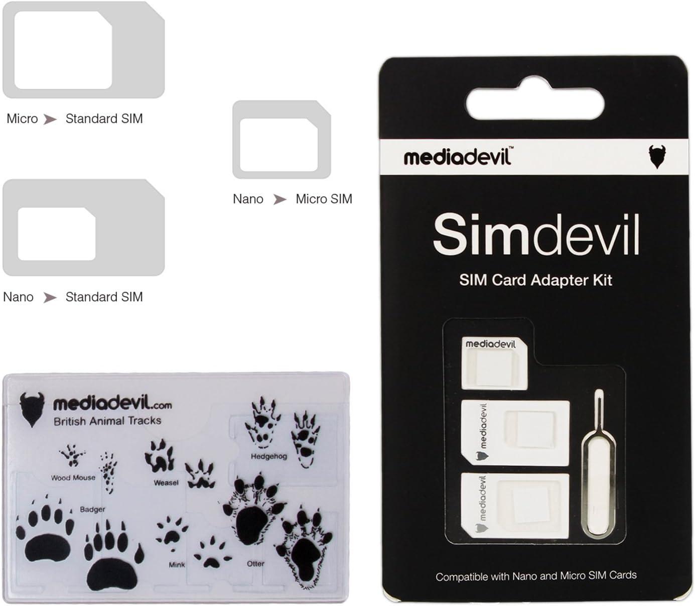 MediaDevil Popular brand in the world Simdevil Same day shipping 3-in-1 SIM Card Micro Nano Adapter Kit Stan