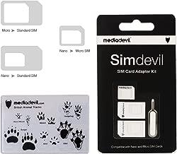 MediaDevil Simdevil 3-in-1 SIM Card Adapter Kit (Nano/Micro/Standard)