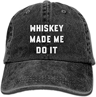 Whiskey Made Me Do It Vintage Washed Baseball Cap Dad Hat Sports Caps