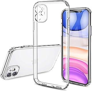 Kristallklart stöttåligt skyddande fodral för iPhone 11 (6,1 tum), premiumkvalitet med repskydd, silikonstötfångare starkt...