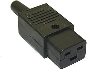 Interpower 83011380 IEC 60320 C19 Rewireable Connector, IEC 60320 C19 Socket Type, Black, 16A/21A Rating, 125VAC/250VAC Rating