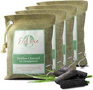 Activated Bamboo Charcoal Air Purifying Bags - Eco-Friendly Natural Charcoal Odor Absorber for Home & Car - Non-Toxic Pet...