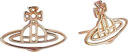 Vivienne Westwood Thin Lines Flat Orn Stud Earrings
