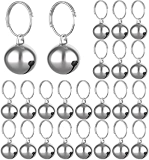 Outus 24 Sets of Cat Bells for Cat and Dog Collar Pendant Pet Cat and Dog Bell Pet Pendant Accessories (Silver)