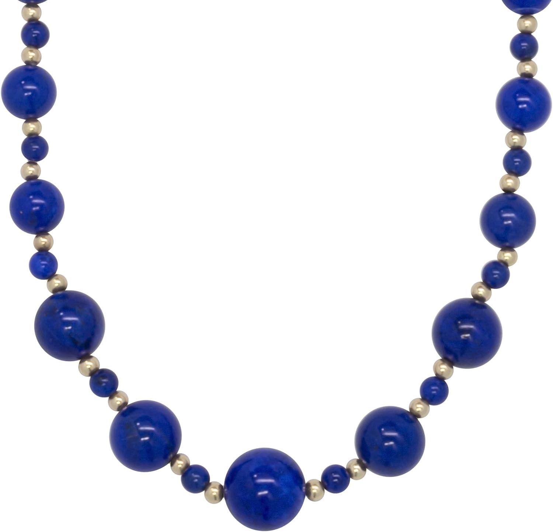 ISAAC 人気ショップが最安値挑戦 WESTMAN 14K Yellow Gold Be 新品 送料無料 Lapis Lazuli Graduated Gemstone