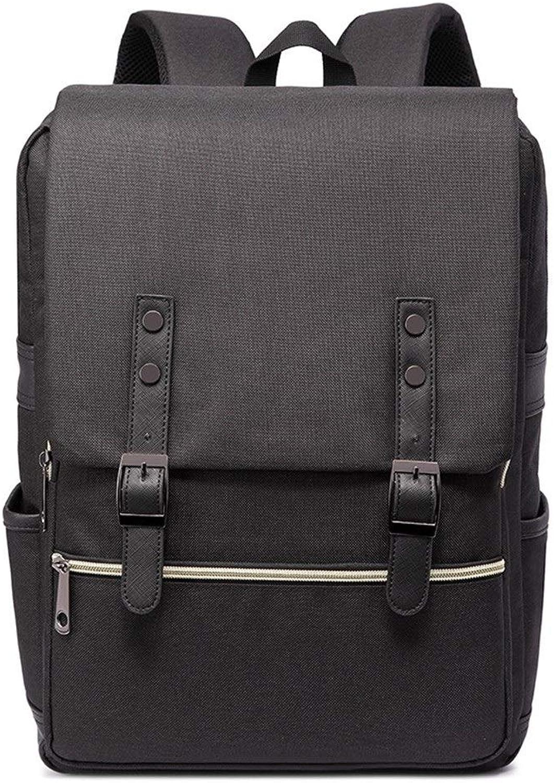 Computer Rucksack, High School Student Tasche, Canvas Reisetasche, Dekompression atmungsaktiv (Farbe   schwarz, Größe   15.7  11.8  4.7inch)