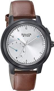 Sonata Stride Pro Hybrid Smart Watch Silver Dial for Men-7132PL02