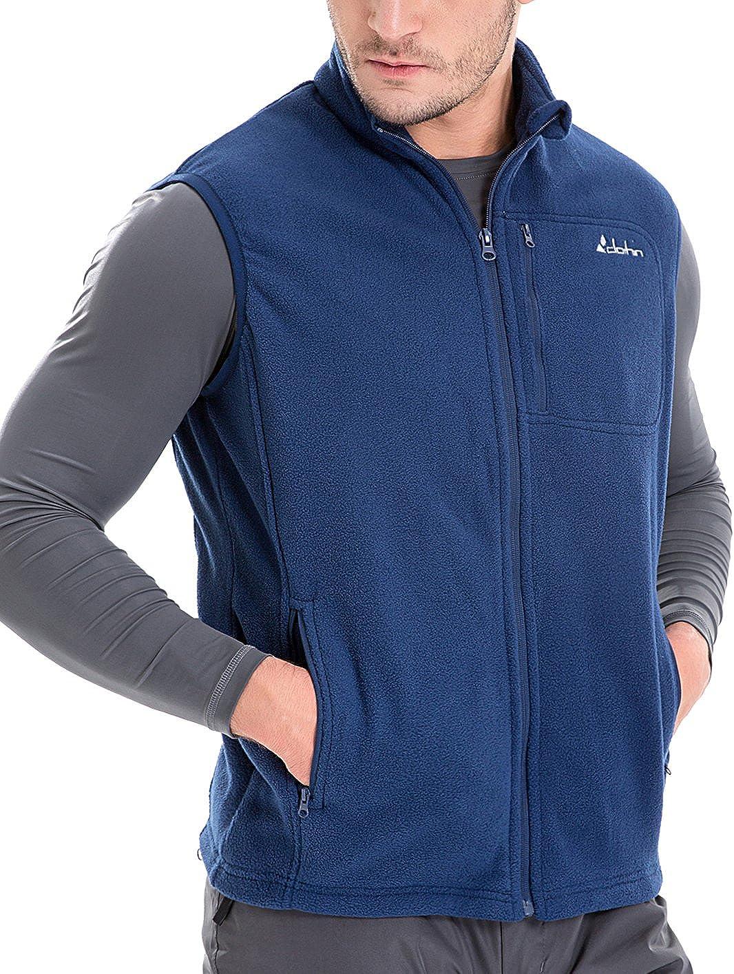 clothin Men's Spring Full Zip Polar Fleece Vest