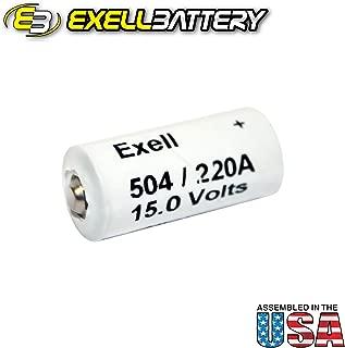 Exell Battery A220/504A 10F15, 220A, 2500, 504, 504A, A220, A504, B154, BA332/U