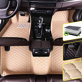 DBL Custom Car Floor Mats for Toyota 2018 Toyota Toyota Prado 5 Seats Waterproof Non-Slip Leather Carpets Automotive Interior Accessories 1 Set Beige