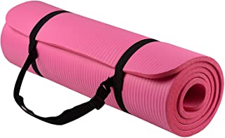 BalanceFrom 厚さ13mmプレミアムヨガマット 7Colors All-Purpose Extra Thick High Density Anti-Tear Exercise Yoga Mat with Carrying Strap [並行輸入品]