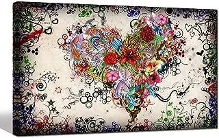 heart canvas wall art