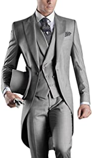 665fb2263c5 Pretygirl Men s Comfort Slim Fit One Button 3 Piece Tuxedo Suit Jacket Pants  for Wedding Formal